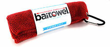 BAITOWEL MICROFIBER TOWEL by CLIP WIPES FISHING GOLF W/ CARABINER SELECT COLOR