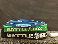 BATTLEBOX UK BANDS GYM HEAVY LOOPS POWERLIFTING ASSISTED PULL UPS CROSSFIT