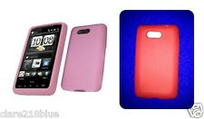 HTC HD Mini Soft Silicone Rubber Gel Skins Phone Case Red Baby Pink Stocking Fil