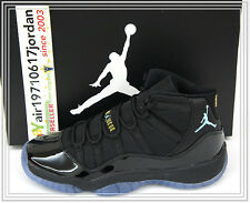 2013 DS Nike Air Jordan 11 XI GS Black Gamma Blue 378038-006 US 4~7Y AJ11 1 2