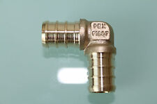 "New 1/2"" x 3/4"" PEX Elbow (Lead Free) , Brass Crimp PEX Fitting"