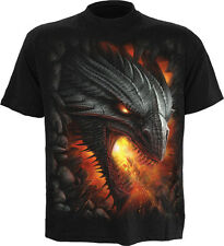 Spiral Rock Guardian T Shirt black gothic style