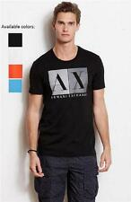 New Armani Exchange AX Mens Muscle/Slim Fit Colorblock Logo Tee Shirt