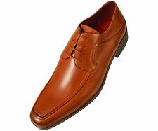 Amali Mens Classic Smooth Cognac Oxford Round Toe Lace Up: Style 9809-215