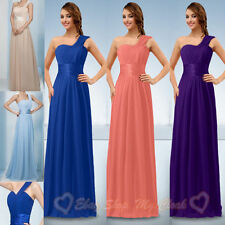 Long One Shoulder Bridesmaid Dress Prom Ball Evening Formal Dress Size 6------26