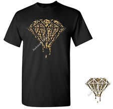 Bleeding Melting Dripping Diamond T-SHIRT Galaxy Diamond Cheetah Cali Leopard XO