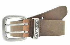 Dickies Genuine Brown Leather Double Prong Belt - New- Size 34 - 44