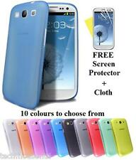Ultra Thin 0.3mm Matte Finish Slim Fit Case For SAMSUNG GALAXY S3 III I9300 S 3