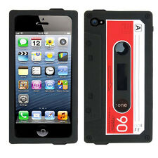 Retro Soft Tape Cassette Skin Case Back Cover for Apple iPhone 5 5s