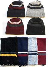 FRED PERRY Authentic Accessories Scarf-Hat Twin Tipped Lambswool Various Colours