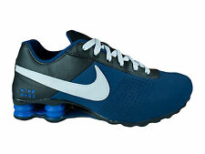 CLASSIC MENS NIKE SHOX DELIVER LEATHER RUNNING SHOES TRAINERS BRAVE BLUE / BLACK