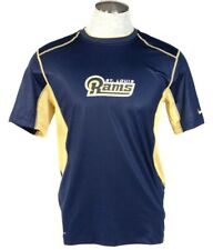 Nike Pro Combat Dri Fit St. Louis Rams Blue Short Sleeve Athletic Shirt Mens NWT
