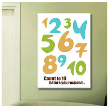 GIANT Canvas Count to 10 Text wall Quotes motivation Typographic Words wall art