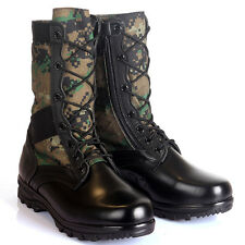 Camo Boots Combat Military Tactical Police Swat Security Army Jungle GI Desert