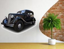 HUGE retro car  WALL STICKERS CLASSIC Vinyl Decal Mural Art Sticker Design