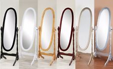 New In Box Swivel Full Length Wood Cheval Floor Mirror Black/White/Oak/Cherry