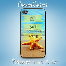 Vintage Quote Positive Vibe Let's Sail Away Case Cover for iPhone Samsung Galaxy