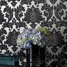 SALE 'Majestic' Black Damask Wallpaper with a Antique Gold finish £15.00 A ROLL