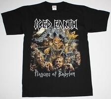 ICED EARTH WORLDWIDE PLAGUES TOUR 2014 HEAVY POWER METAL NEW BLACK T-SHIRT