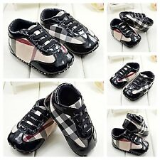 Brand New Baby Boy Infant Crib Shoes Soft Sole PreWalker Sneakers 0-12 Months