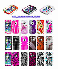 Design Heavy Duty Hybrid Defender Rubber Silicone Case Cover For Apple iPhone 5s