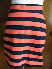 NWT Gap women striped orange navy blue Jersey knit mini skirt small,large,Xlarge