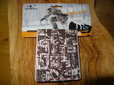 O'NEILL GLOOM TRIFOLD LEATHER & CANVAS WALLET, RRP £18.99, SURF, BNWT, FREE P&P