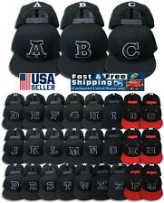 ABC Letter Embroidery INITIAL Adjustable Snapback Cap