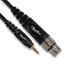 Female XLR to 3.5mm Stereo Jack Lead (Microphone Cable for PC)
