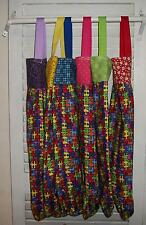 "Autism Awareness Puzzle Plastic Bag Rag Sock Holder 14"" x 25""  HCF&D"