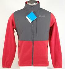 Columbia Loganville Trail 2.0 Red Full Zip Fleece Jacket Mens NWT