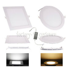 6W/9W/12W/18W/24W/33W LED Recessed Ceiling Panel Down light Warm Cool White Lamp