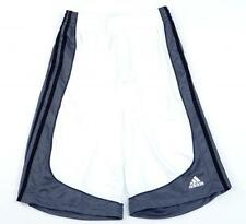 Adidas ClimaLite Pro Model White & Gray Basketball Athletic Shorts Mens NWT