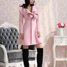 New Fashion Cute Women's Outerwear Trench Coat Parka Elegant Jacket 2 Colors-ONE