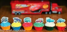 Disney Pixar Cars EDIBLE wafer stand up Cupcake Cake Toppers Birthday PRE-CUT