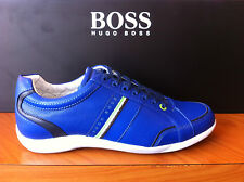 Hugo Boss Green Gilmour Star Mens Sneakers In Bright Blue