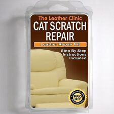 TLC Leather CAT SCRATCH Repair Kit. Easy to Use. Complete with Filler & Color.