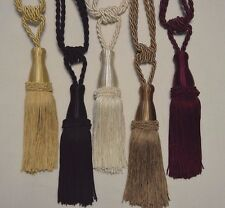 "Curtain & Chair Tie Backs -30""spread with 6""tassel in 4 Bright colors."