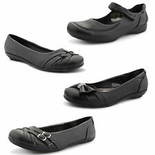 New Ladies Flat Ballet Dolly Pumps Bow Diamante Office Work Shoes UK Size 3-8