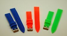 18mm Soft Thin Silicone Rubber Diver Pink Blue Green Watch Band Strap 4 Invicta