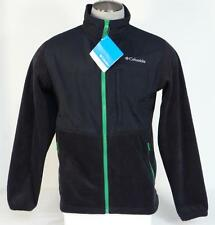 Columbia Loganville Trail 2.0 Black & Green Full Zip Fleece Jacket Mens NWT