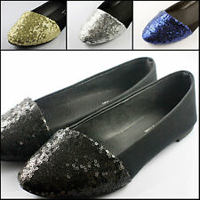 4 color , Sequins Style Womens Comfy Ballet Flats Casual Flat Shoes x 1pair