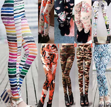 Women Skinny Colorful Jeggings Stretchy Pattern Print Sexy Pants Pencil Tights