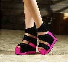 2014 new summer fashion, sexy fish mouth super high platform shoes thick crust s