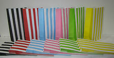 10 STRIPED Lolly Candy Bags Party Favours Loot Lolly Party Bag - Candy Buffet