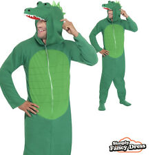 Adult Mens Crocodile Green Animal Party Outfit Fancy Dress Costume