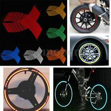 6 Color 16 Strips Motorcycle Car Wheel Stickers Reflective Rim Stripe Tape DECAL