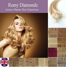 "18 "" 25 g / 1g ★ long / straight micro boucle remy extensions de cheveux humain ★ UK fournisseurs"