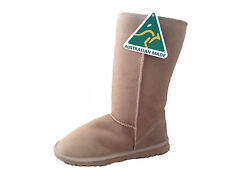 Australian Made Sheepskin Classic Tall UGG Boots Beige Colour Multi Size