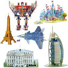 3D Puzzles Jigsaws Of Eiffel Leaning Tower Bridge Transformers Opera White House